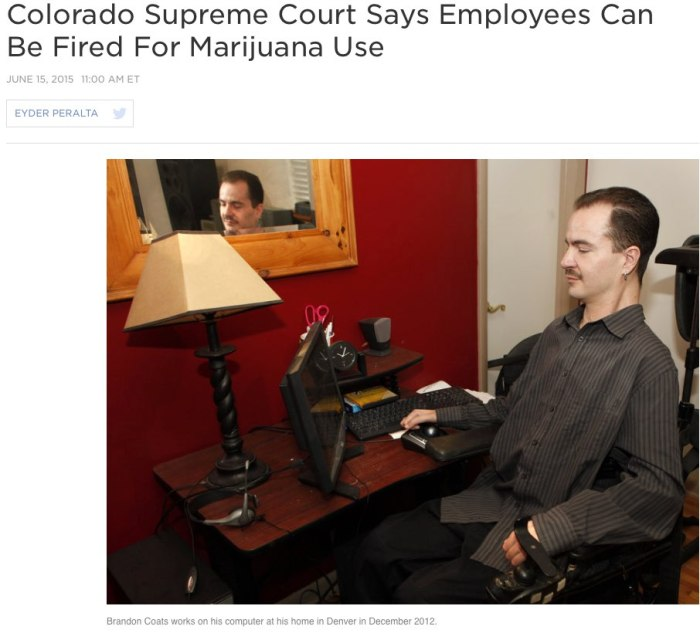 Colorado Supreme Court Says Employees Can Be Fired For Marijuana Use _ The Two-Way _ NPR